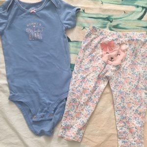 Baby girls Carters outfit size 24 months